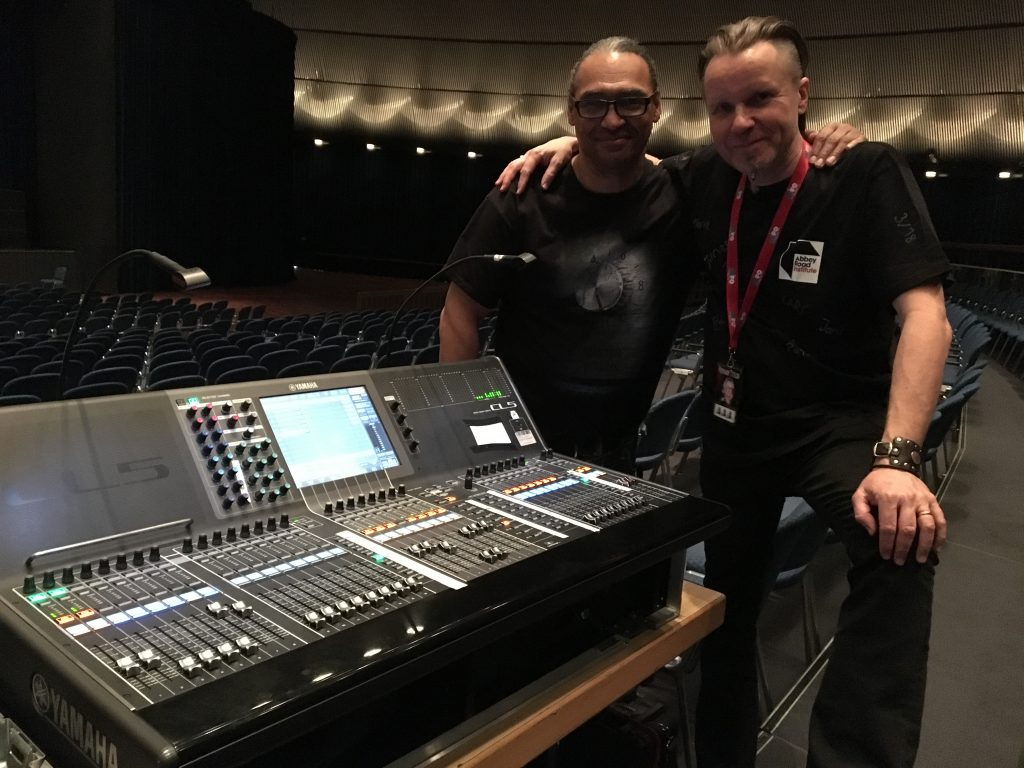 Abbey Road Institute's sound engineer Walter Hauschild and Bonnie Tyler FOH engineer Tom E Morrison on the Yamaha CL5