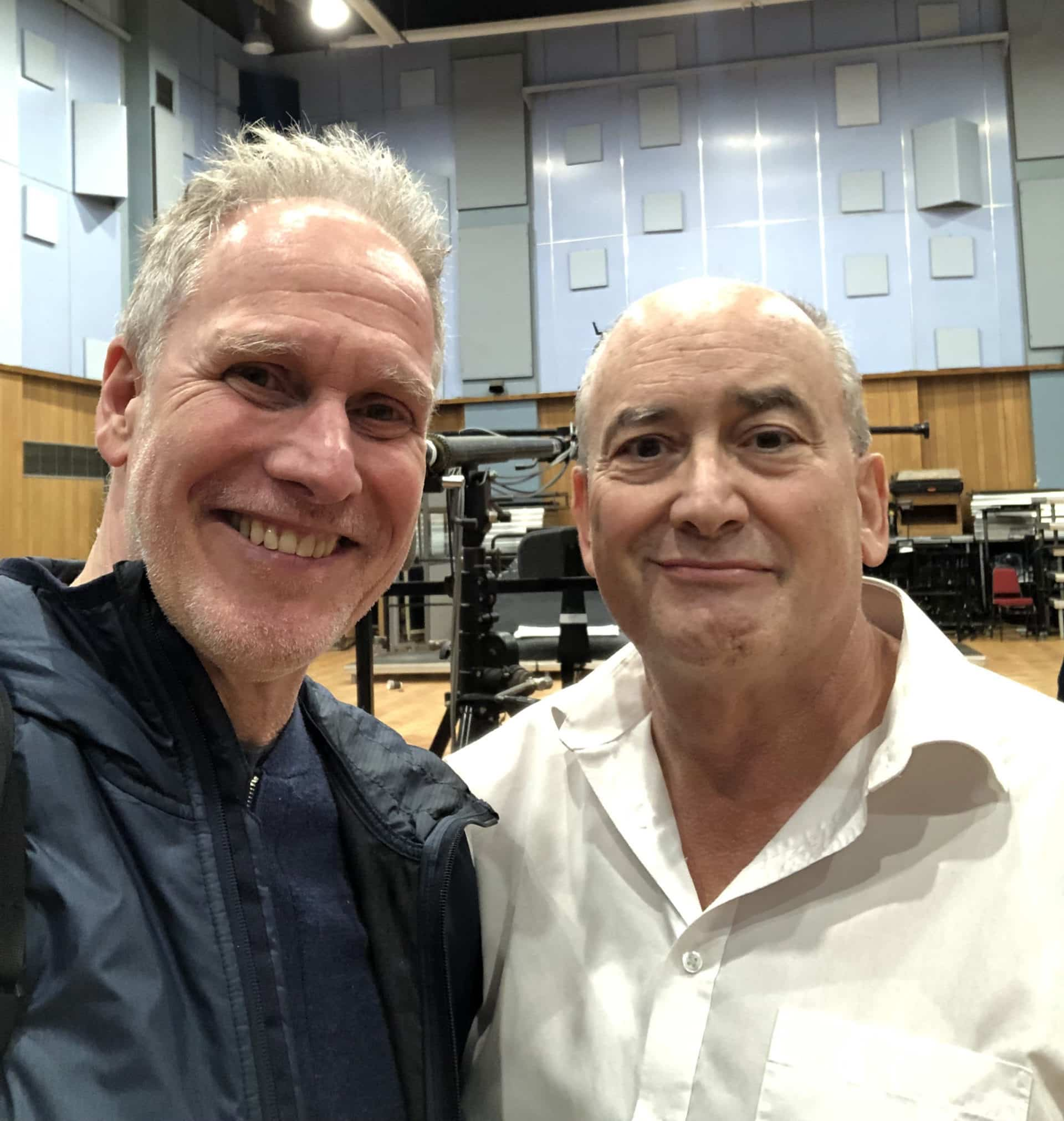 Peter Walsh and John Kurlander in Abbey Road Studio One